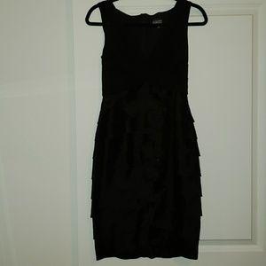 Adrianna Papell EUC Black Dress Size 4